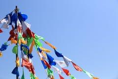 Buddhist tibetan prayer flags Stock Photography