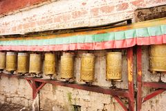 Buddhist tibetan prayer wheels Royalty Free Stock Photography