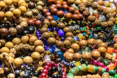 Buddhist traditional prayer beads and jewelry stock image