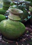 Buddhist vases Royalty Free Stock Images