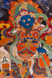 Buddhist wall painting in Ladakh, India Royalty Free Stock Photography