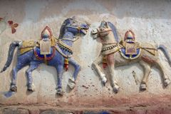 Buddhist War Horses Royalty Free Stock Photography