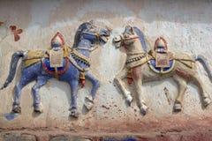 Buddhist War Horses Royalty Free Stock Photography