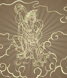 Buddhist warrior. Stock Images