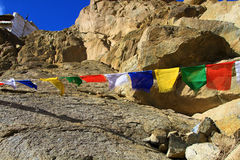 Buddhist wish flags Stock Image