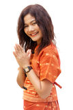 Buddhist woman praying Stock Image