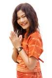 Buddhist woman praying Stock Image