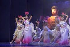 Buddhist women dance Stock Images
