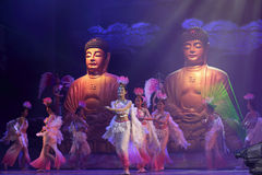 Buddhist women dancing Stock Photography