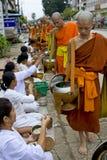 buddhistic μοναχοί του Λάος luang prabang Στοκ Εικόνα