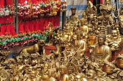Buddhistic handicraft of hong kong. The pictures show the handicraft (golden buddha Royalty Free Stock Photos