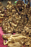 Buddhistic handicraft of hong kong. The pictures show the handicraft (golden buddha Stock Photo