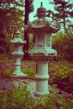 Buddhistic lanterns in Zao, Japan Stock Image