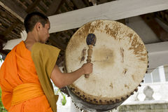 Buddhistic monk in Luang Prabang, Laos stock photography