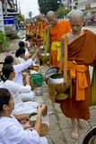 Buddhistic monks in Luang Prabang, Laos Stock Image