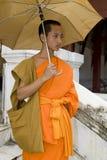 buddhistic prabang монаха luang Лаоса Стоковые Изображения