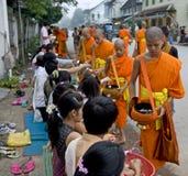 buddhistic prabang монахов luang Лаоса Стоковая Фотография