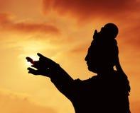 Buddhistic statue stock photos