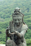 Buddhistic statues praising. And making offerings to the Tian Tan Buddha,Hong Kong Stock Images