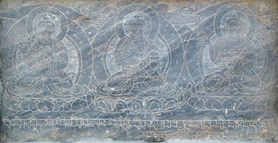 Buddhistic stone pictures Royalty Free Stock Image