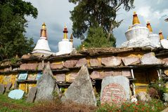 Buddhistic stupa. From the indian monastery. India, Sikkim Stock Image