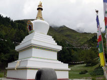 Buddhistic Stupa in the Annapurna Himalayas Royalty Free Stock Images