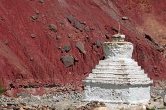 Buddhistic stupa (chorten) in the Himalayas Stock Image