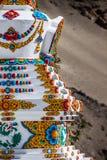 Buddhistic stupas (chorten) в Тибете Стоковые Изображения RF
