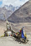 Buddhistic stupas (chorten) in the Himalayas Stock Photography