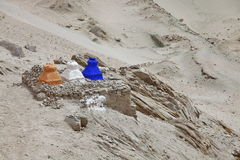 Buddhistic stupas (chorten) in the Himalayas Royalty Free Stock Image