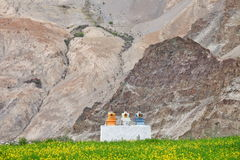 Buddhistic stupas (chorten) in the Himalayas Royalty Free Stock Photography