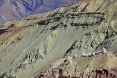 Buddhistic stupas (chorten) in the Himalayas Stock Images