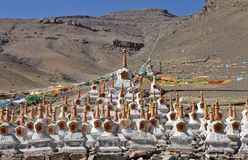 Buddhistic stupas Royalty Free Stock Image