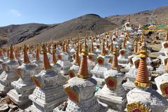 Buddhistic stupas Royalty Free Stock Photo