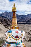 Buddhistic stupas (chorten) in Tibet Royalty Free Stock Photography