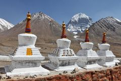 Buddhistic stupas (chorten) in Tibet Stock Image