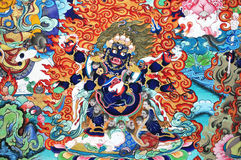 Buddhistische Anstrichgestaltungsarbeit lizenzfreie stockfotos