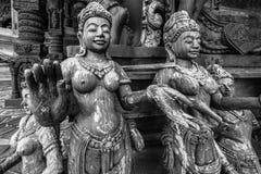 Buddhistische Carvings Lizenzfreies Stockfoto