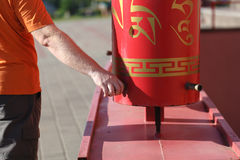 Buddhistische Gebet-Räder Lizenzfreie Stockbilder