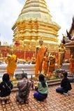Buddhistische Gebete Stockbild