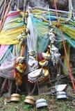 Buddhistische Gebetmarkierungsfahnen lizenzfreie stockfotos