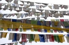 Buddhistische Gebetmarkierungsfahnen Lizenzfreies Stockbild