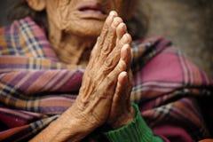 Buddhistische Hände Stockfoto