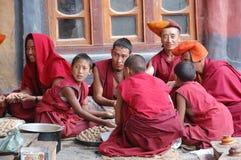 Buddhistische Mönche Lizenzfreies Stockfoto