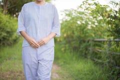 Buddhistische Nonnenmeditation Lizenzfreie Stockbilder