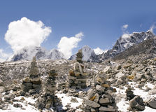 Buddhistische Steine - Nepal Lizenzfreies Stockbild
