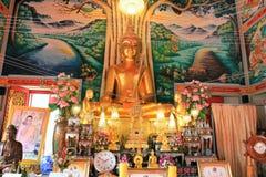 Buddhistische Tempel - Innenraum Stockfotografie