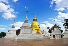 Buddhistische Tempel in Thailand. Lizenzfreie Stockfotos