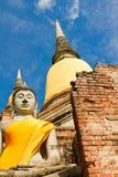 Buddhistische Tempel von Ayuthaya, Thailand Lizenzfreie Stockfotos
