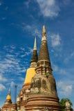 Buddhistische Tempel von Ayuthaya, Thailand Lizenzfreie Stockfotografie